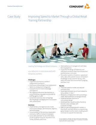 Case Study: Hi-Tech Improving Speed to Market