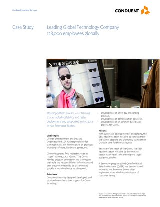 Case Study: Sales Field Training