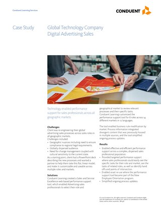 Case Study: Performance Support for Advertising Sales Professionals