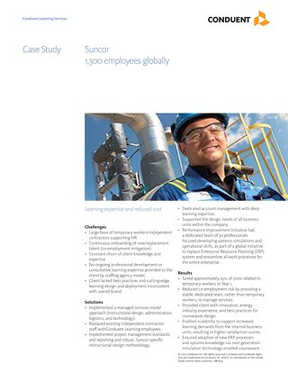Case Study: Suncor Energy Learning