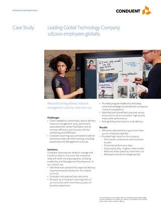 Case Study: Training Delivery