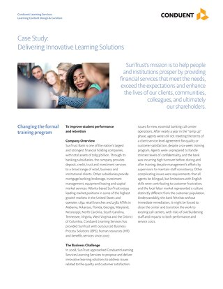 Case Study: SunTrust Learning
