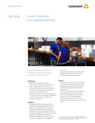 Case Study: Turner Construction Training Improved Performance and Compliance