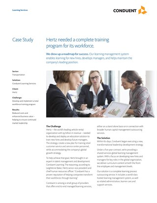Case Study: Hertz Training Program