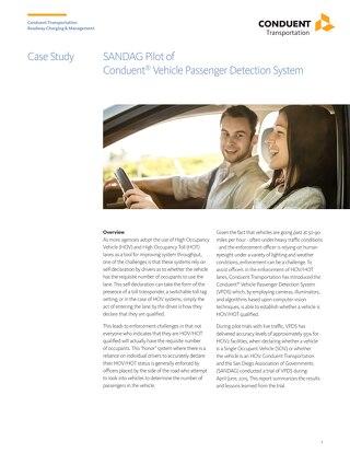 Case Study - SANDAG Pilot of VPDS