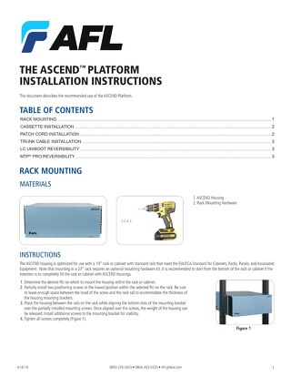 ASCEND® Platform Installation Instructions