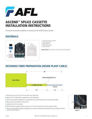 ASCEND® Splice Cassette Installation Instructions