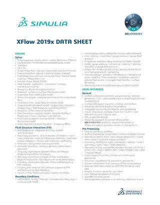 XFlow 2019x Datasheet
