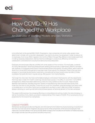 How COVID-19 Has Changed the Workplace