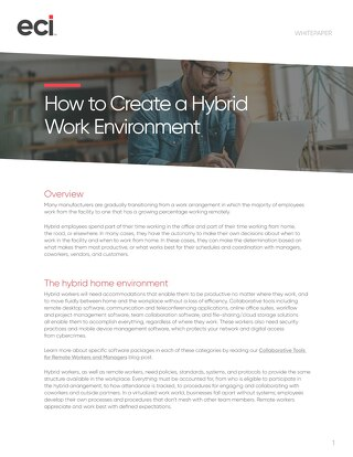 How to Create Hybrid Work Environment