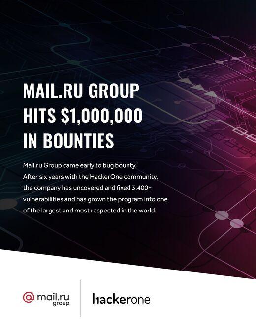 Mail.Ru Group Hits $1,000,000 In Bounties