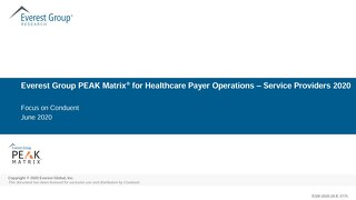 Healthcare Payer Operations – Services PEAK Matrix® Assessment 2020