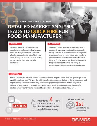[Manufacturing] Detailed Market Analysis Leads to Quick Hire for Food Manufacturer_SIMOS_Case Study_2020