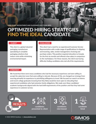 [Manufacturing] Optimized Hiring Strategies Find the Ideal Candidate Case Study
