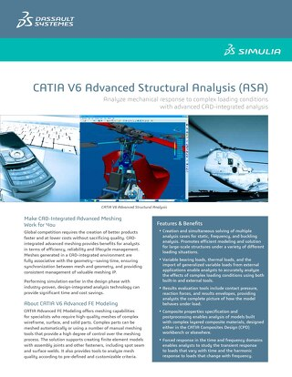 Catia Advanced Structural Analysis Datasheet