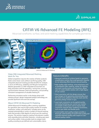Catia Advanced Fe Modeling Datasheet