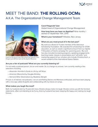 Meet the Band: The Organizational Change Management Team