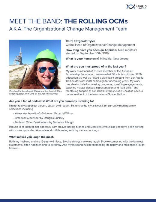 Meet the Band: The Organizational Change Management Team