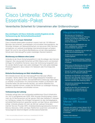 Cisco Umbrella- DNS Security Essentials-Paket