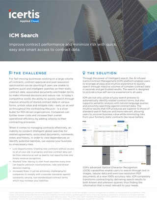 Datasheet | ICM Search Capabilities