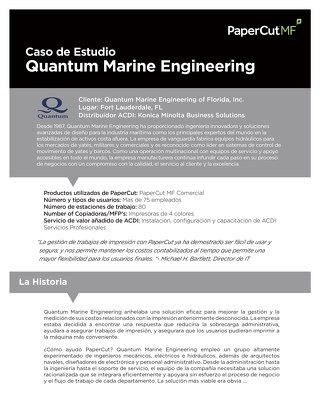 PaperCut Quantum Engineering Case Study en Español