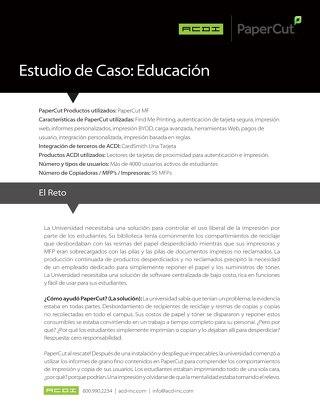 Estudio de Caso de PaperCut MF en la Educación