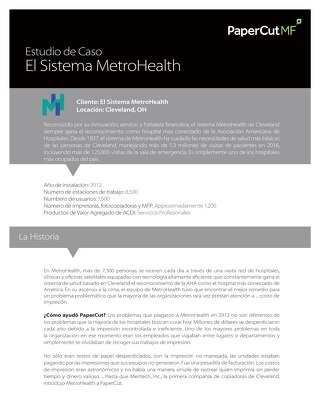 Case de Estudio de PaperCut - MetroHealth