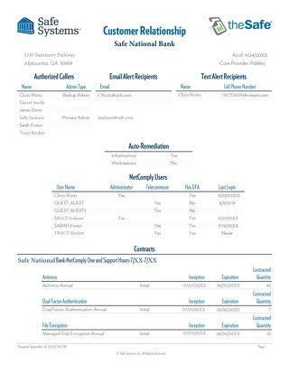 Sample - Customer Relationship - Report