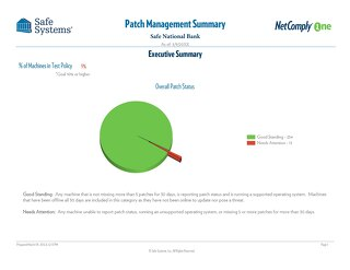 Sample Patch Management Summary Report - 2020