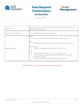 VM Executive Summary - Sample Reports