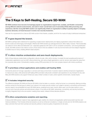 The 5 Keys to Self-Healing, Secure SD-WAN