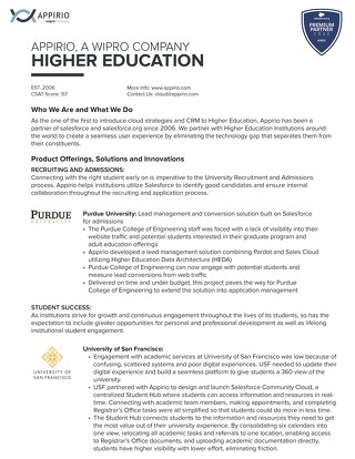 Appirio Higher Education Services Overview