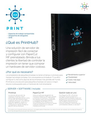 PrintHub Overview Flyer Esp