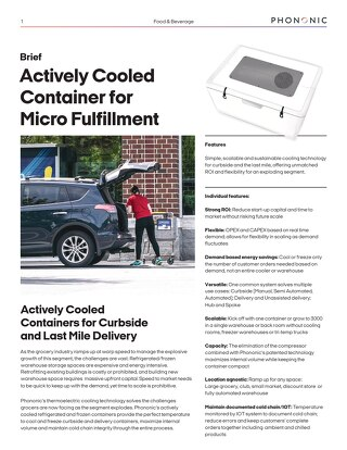 Phononic Micro Fulfillment Sales Sheet