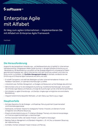 Enterprise Agile mit Alfabet