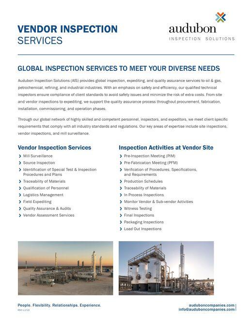 Vendor Inspection Services