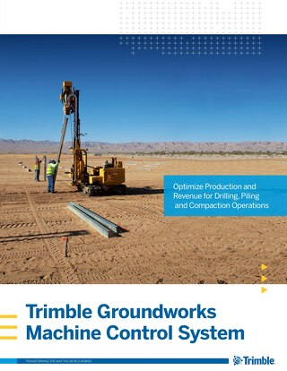 Trimble Groundworks Machine Control System Brochure - English