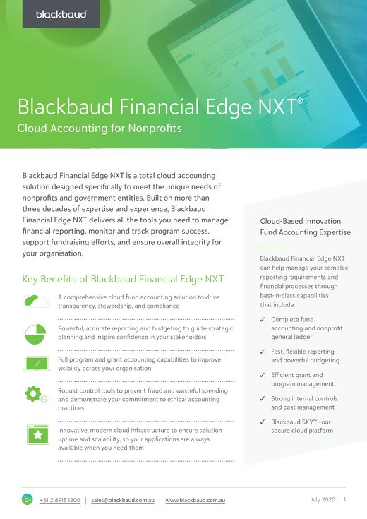 Blackbaud Financial Edge NXT
