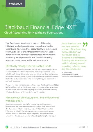 Financial Edge NXT for Healthcare Foundations