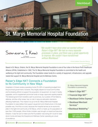 Customer Spotlight: St. Marys Memorial Hospital Foundation