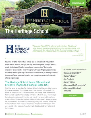 Customer Spotlight: The Heritage School