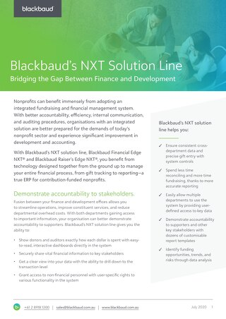 Datasheet - NXT Solution Line