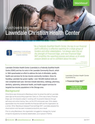 Customer Spotlight: Lawndale Christian Health Center