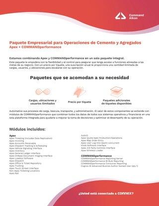 Paquete Empresarial: Operaciones de Cemento y Agregados