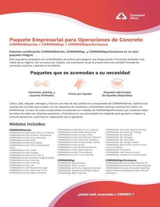 Paquete Empresarial: Operaciones de Concreto