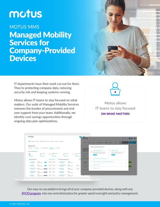 Motus Device: Managed Mobility Services