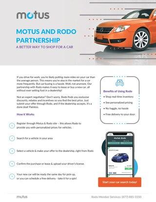 Motus and Rodo Partnership One Pager