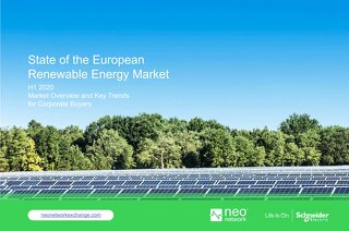 State of the European Renewable Energy Market (H1 2020)