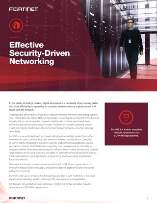 Effective Security-Driven Networking