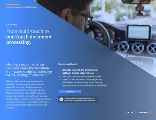 From multi-touch to one-touch document processing.